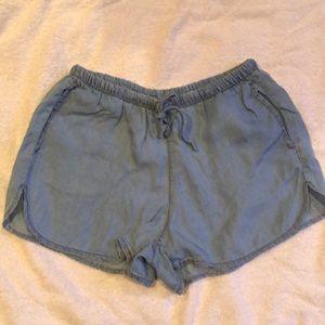 Brandi Melville denim drawstring shorts